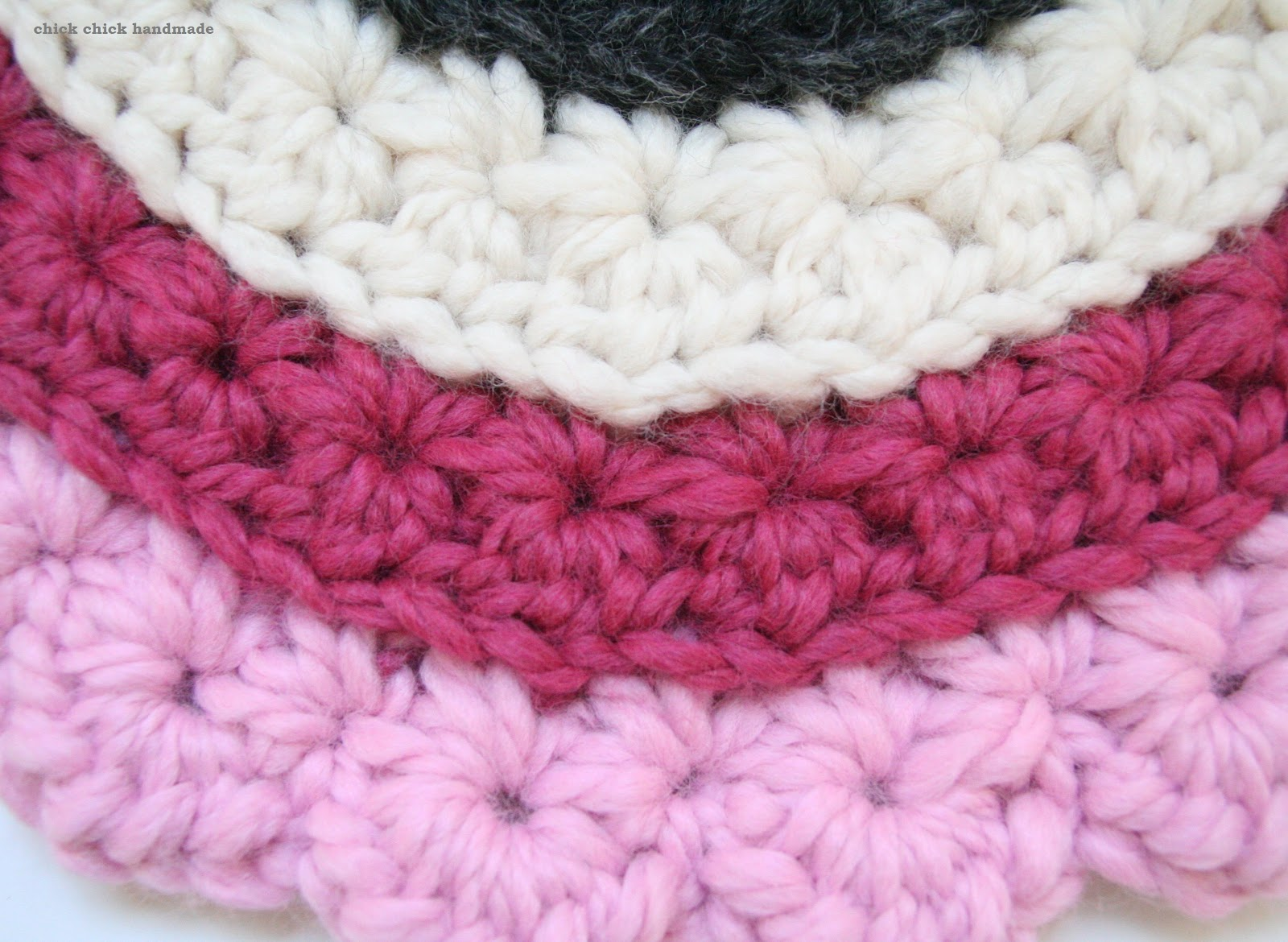 Crochet Stitches Star : here s the close up of the star stitches i really like the lumpy stars ...