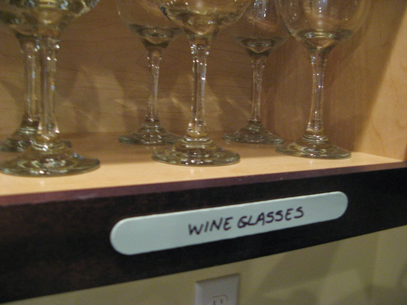 Kitchen Cabinet Labels - made from wooden craft sticks
