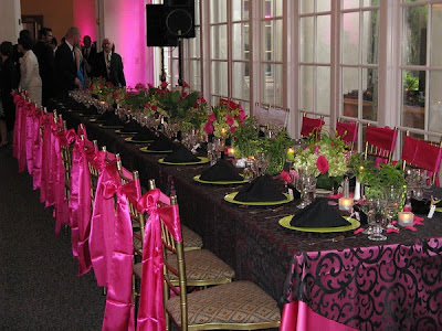Pink And  Black Wedding Decoration Ideas