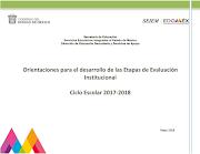 Orientaciones Evaluación Institucional 2017-2018 secundaria