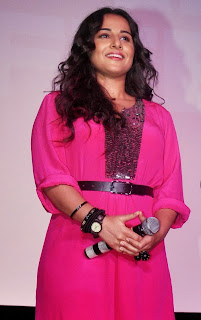 Actress Vidya Balan Pictures in Pink Short Dress at Shaadi Ke Side Movie Trailer Launch 0003.jpg