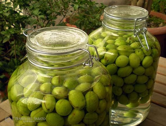 olives in brine