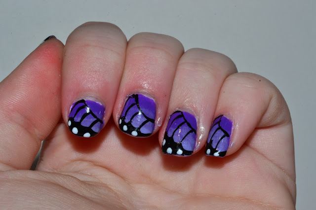Butterfly Nails by Elins Nails