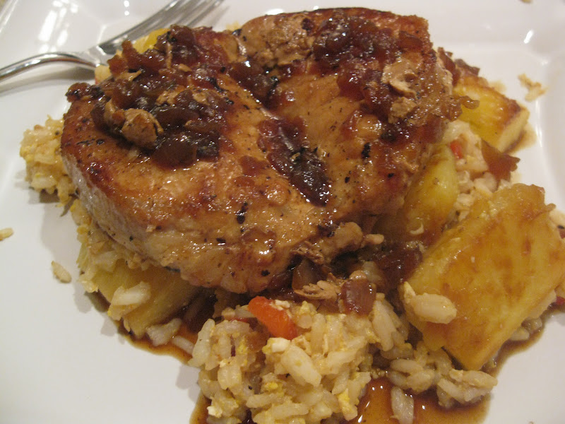 I Hope You're Hungry: Pork Chops with Pineapple Fried Rice