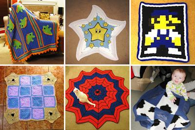 crochet geeky baby blankets