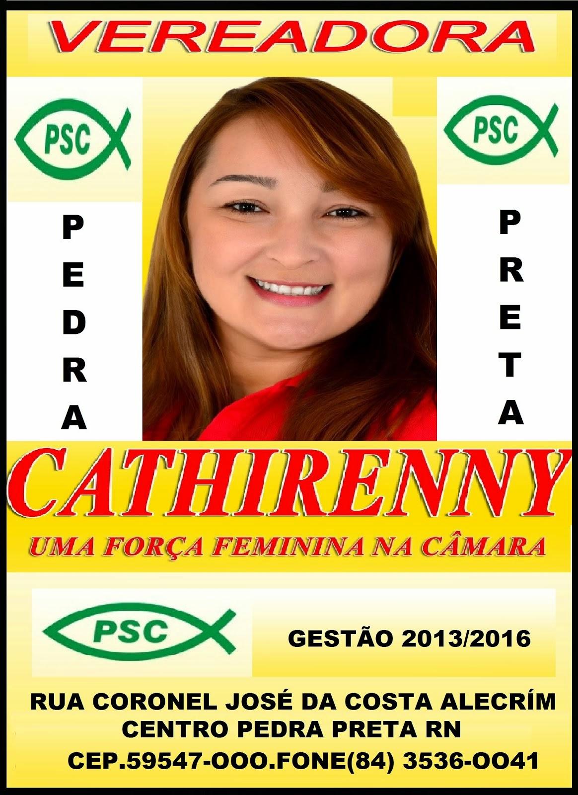 VEREADORA CATHIRENNY TEÍXEÍRA PEDRA PRETA RN