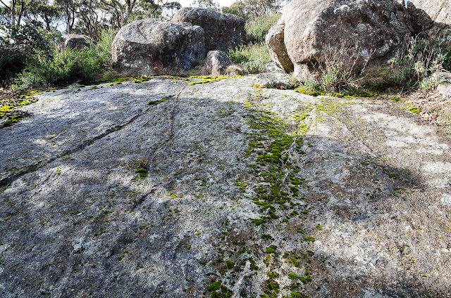 sloping granite rock
