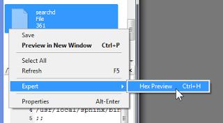 Klik kanan pada file yang bersangkutan
