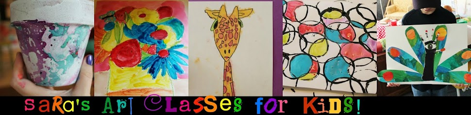 Sara's Art Classes for Kids!