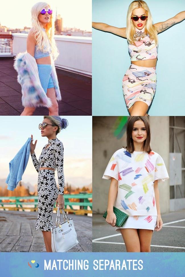 matching separates - co-ordinates fashion trend