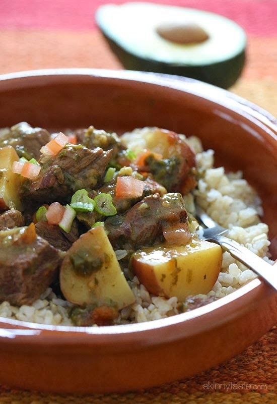 Crock Pot Carne Guisado is a beef stew with Latin flavors