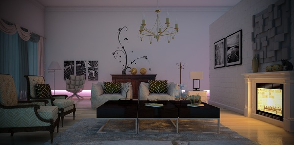White, Yellow And Black Colors In Home Decorating