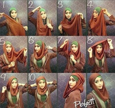 Tips Memakai Hijab Segiempat yang Modis