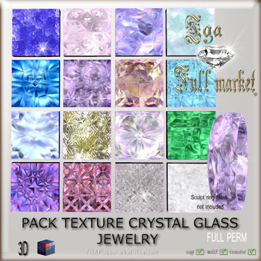 PACK TEXTURE CRYSTAL GLASS JEWELRY