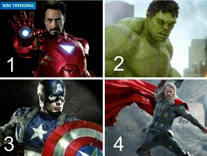 THOR? HULK? CAPTAIN AMERICA? IRON MAN