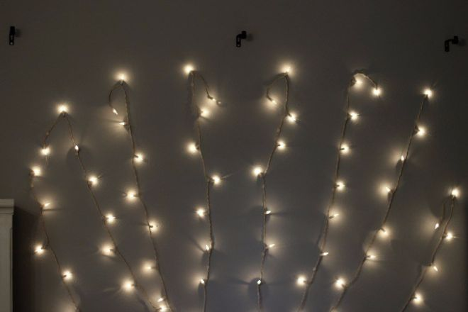 DIY Dreamy Light-Up Headboard - DIY Craft Projects