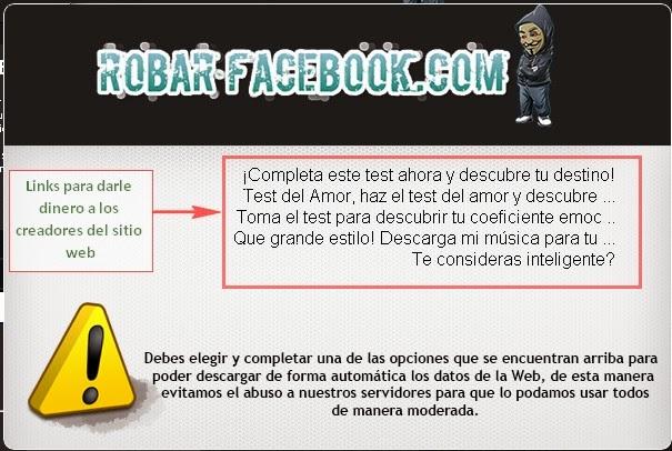 RobarFacebook Estafa