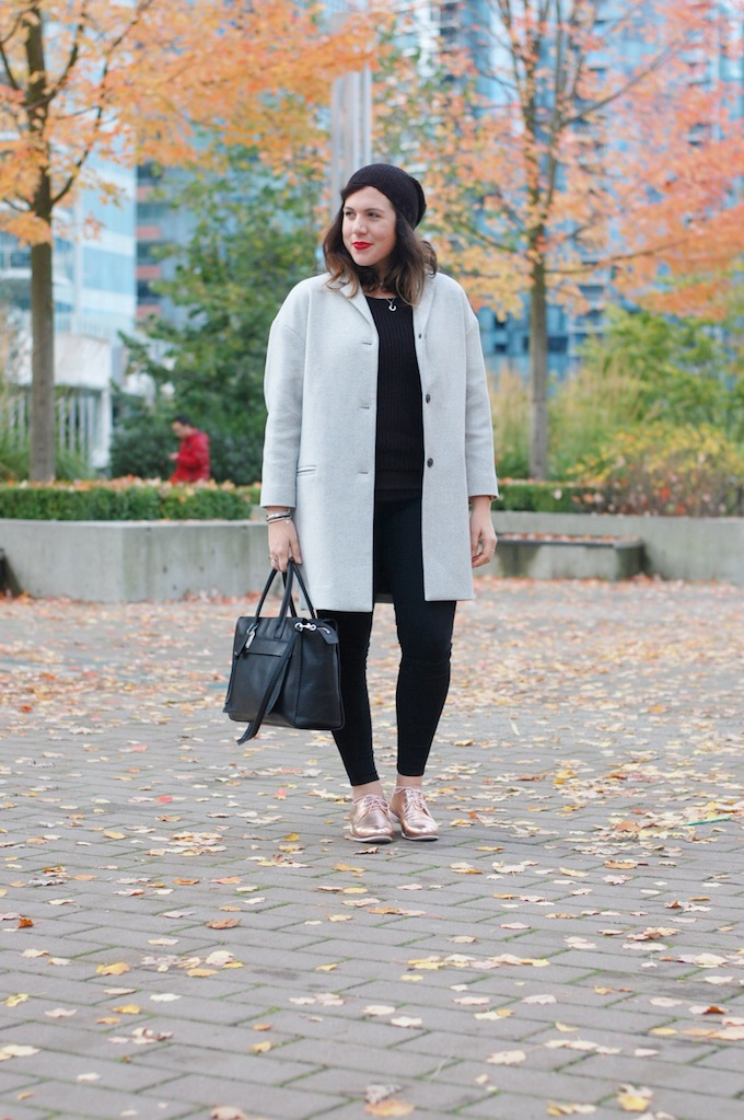 Gap dropped shoulder wool coat