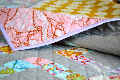 Quilt with solid binding