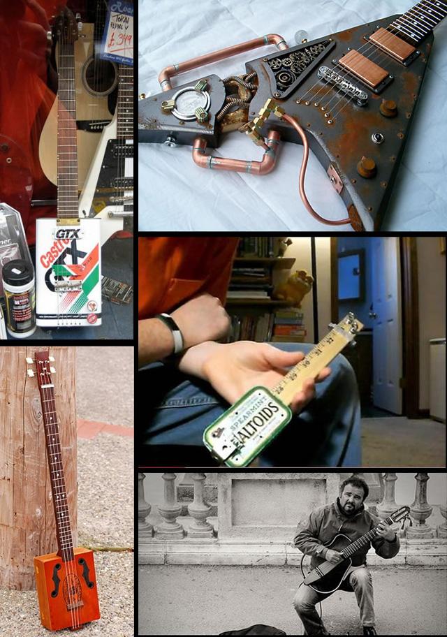 Guitarras incríveis de materiais reciclados