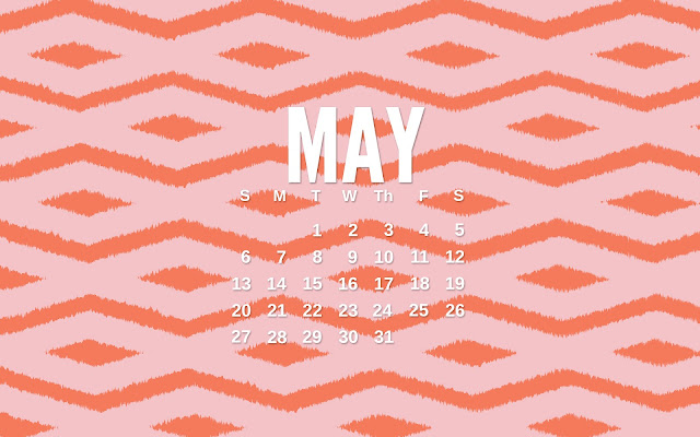Ikat May Desktop Calendar