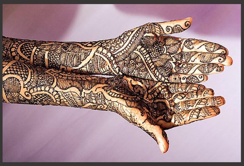 Bridal Mehndi Ideas : Original bangladeshi bridal mehndi design domseksa