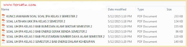 Download Soal Soal IPA Kelas 3 Semester 2 KTSP Tematik 2015 Terbaru