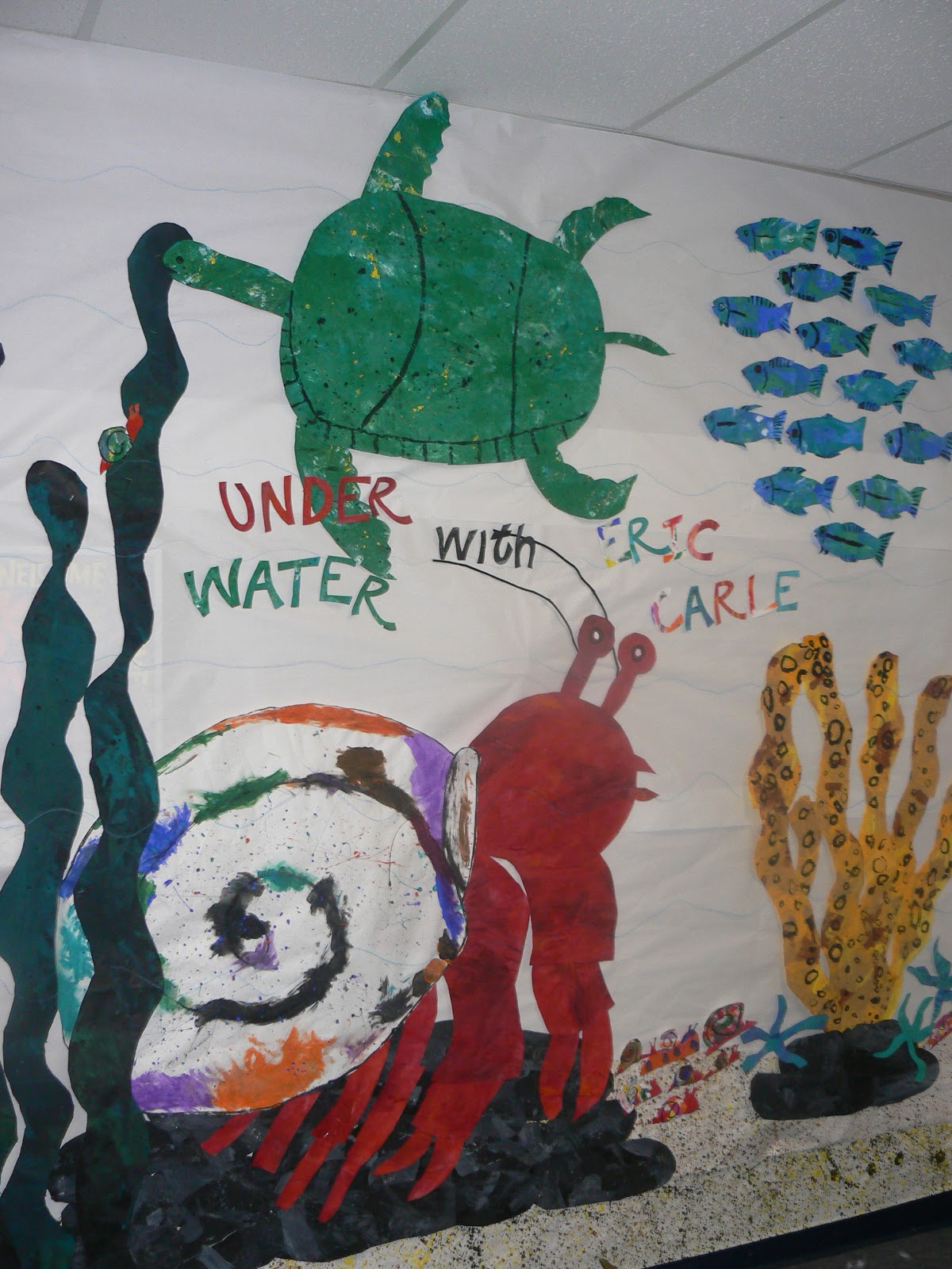 Here are the other first grade eric carle themed murals for Eric carle mural
