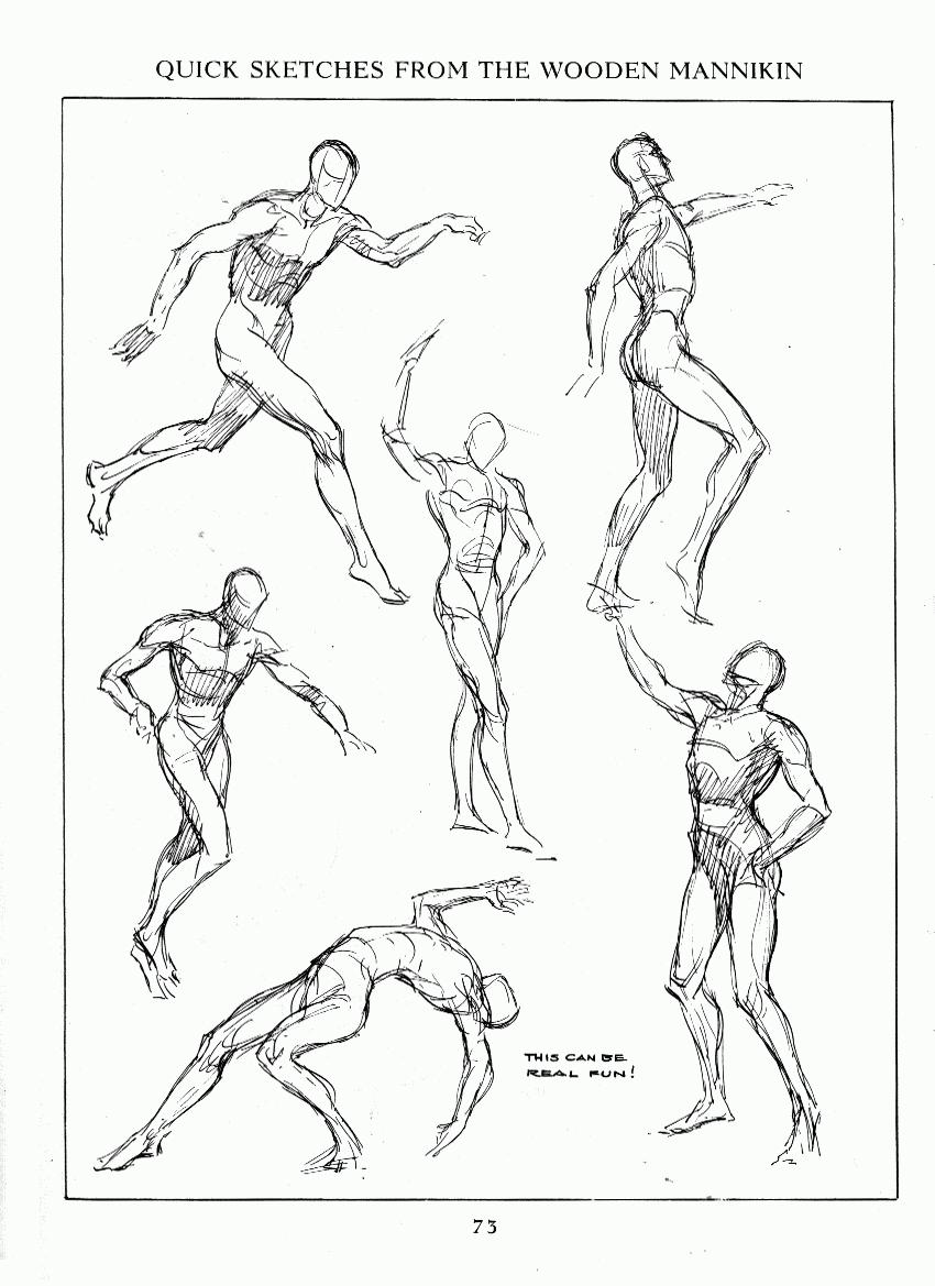 Expresi n gr fica 2 taller gamboa algunas l minas sobre for Body movement drawing