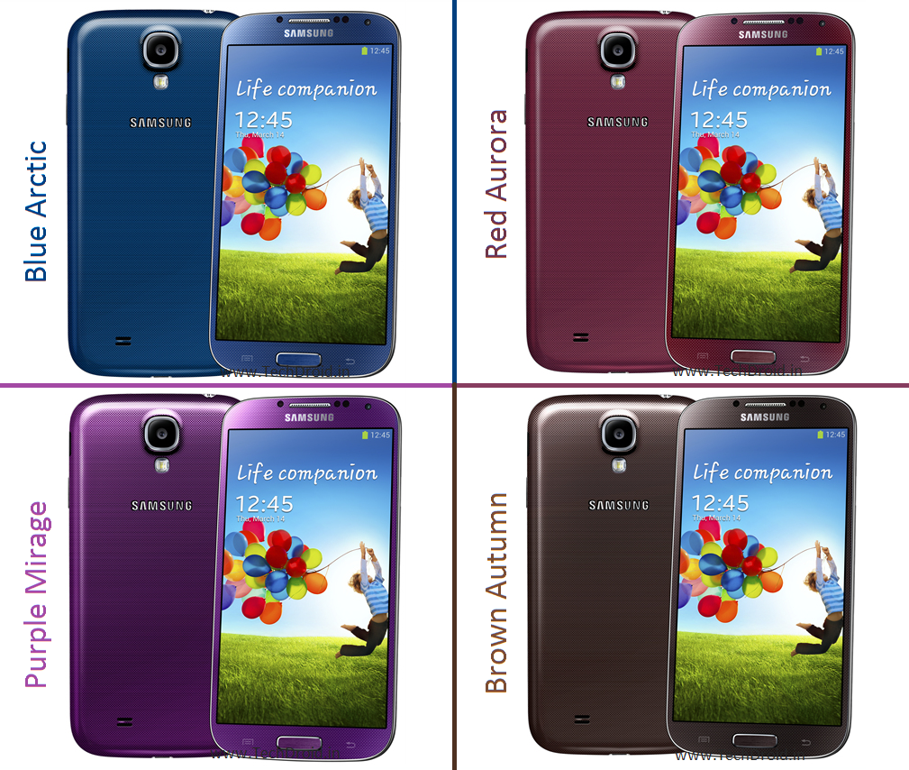 New Galaxy S4 Colours