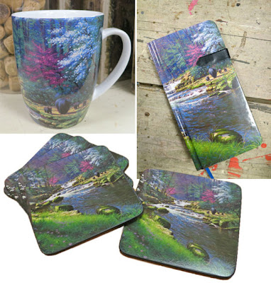 Stoneware Mug, Slim Journal and Coasters