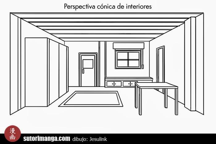 Sutori Dibujo De Escenarios 3 Perspectiva De Interiores