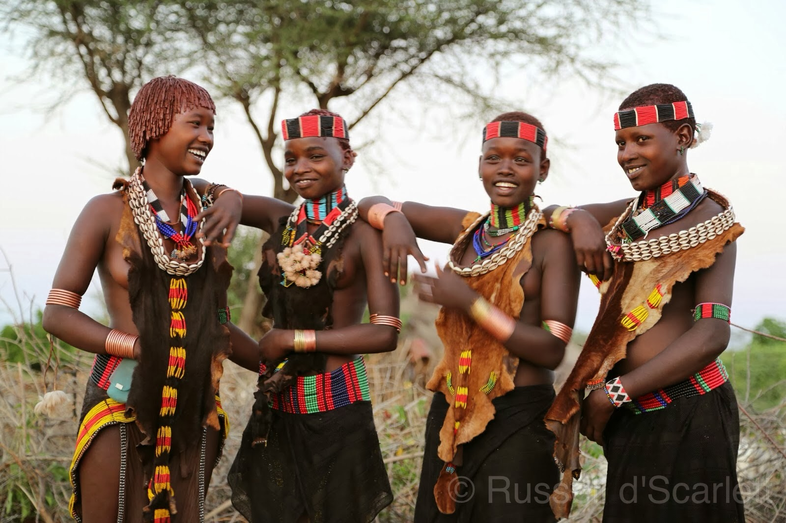 Hamer tribe girls
