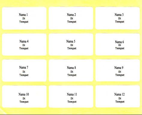 Template Format Label Undangan 103 Untuk Membuat Label Undangan Secara Mudah Dan Praktis Wiki