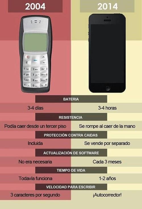 Móviles antiguos vs Smartphones
