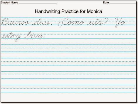 Children Handwriting Worksheets