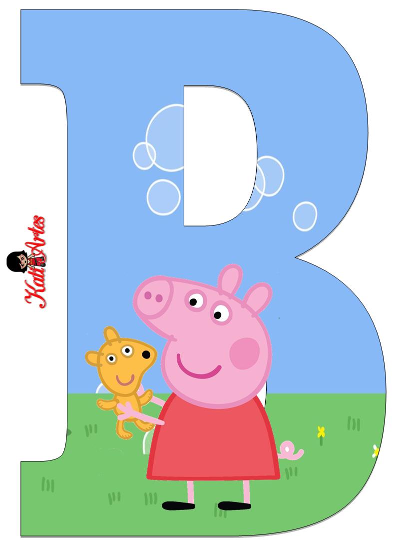 Alfabeto de Peppa Pig y Perrito 2. | alphabet letters | Pinterest ...