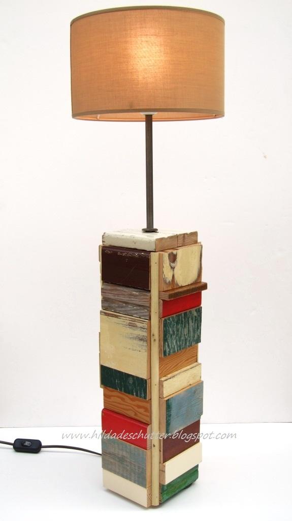 art design kitsch ...: scrap wood light