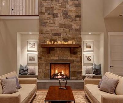 Fotos de chimeneas chimeneas con madera exteriores for Chimeneas de madera