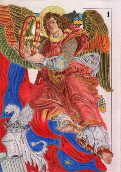 Ángel tocant la pandereta