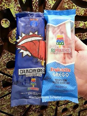 Los Paleteros: Paletas Crunchy Cream e Fruit-tella Grego