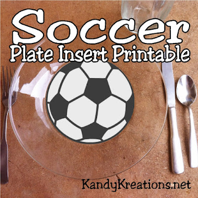 Have fun at your next soccer party or watching the World cup with these inset printables for your glass plates.  They are quick, easy, and bring a lot of fun to the table.