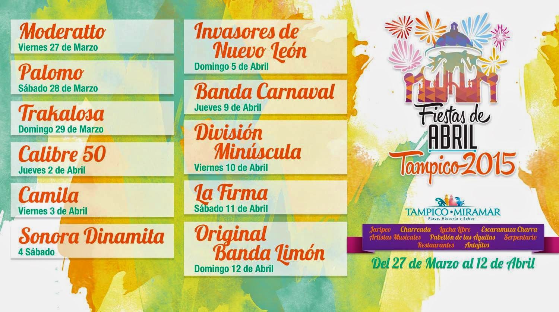 programa fiestas de abril tampico 2015