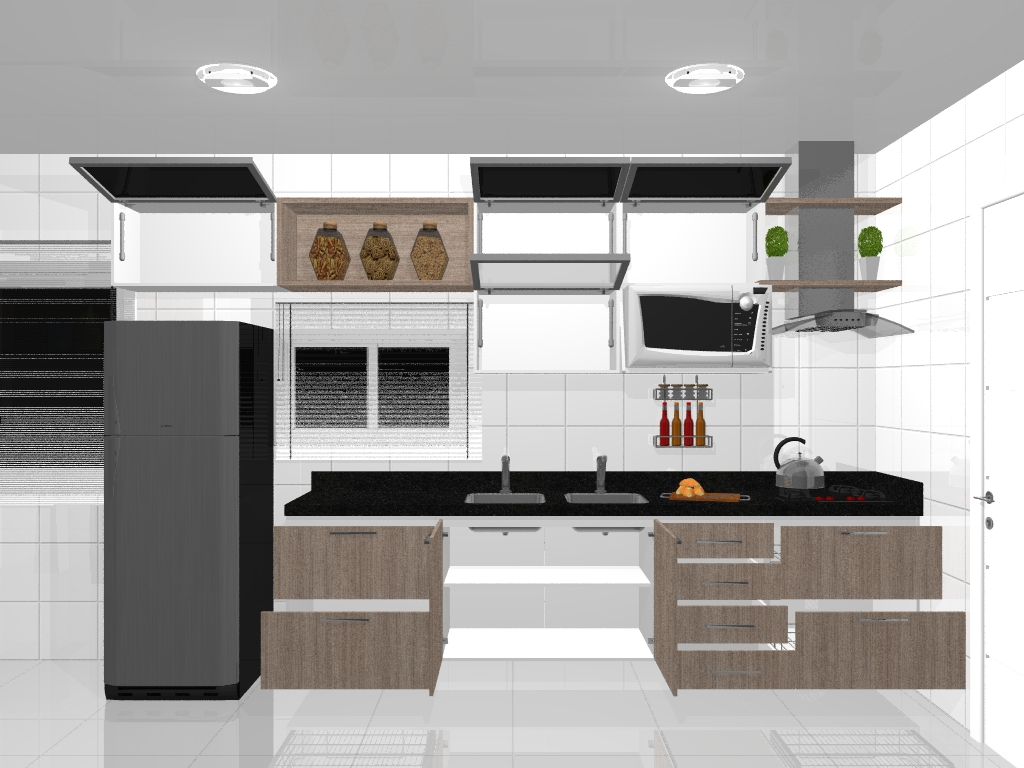 #A76524 Cozinha Pequena com área de Serviço Planejada 1024x768 px Projetos De Cozinha Com Area De Serviço_5341 Imagens