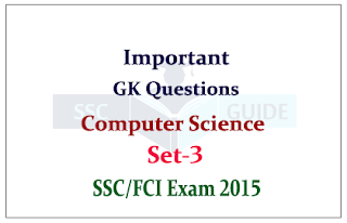 List of Important Computer Questions for FCI / SSC CHSL Exam