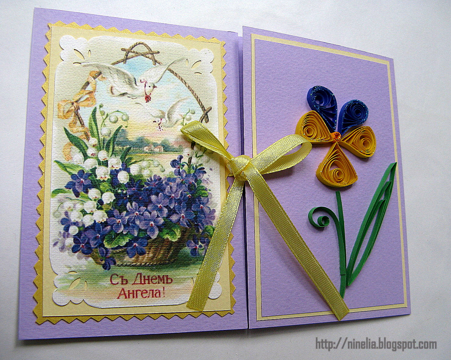 Сделать открытку с Ангелом своими руками можно следующим образом 20
