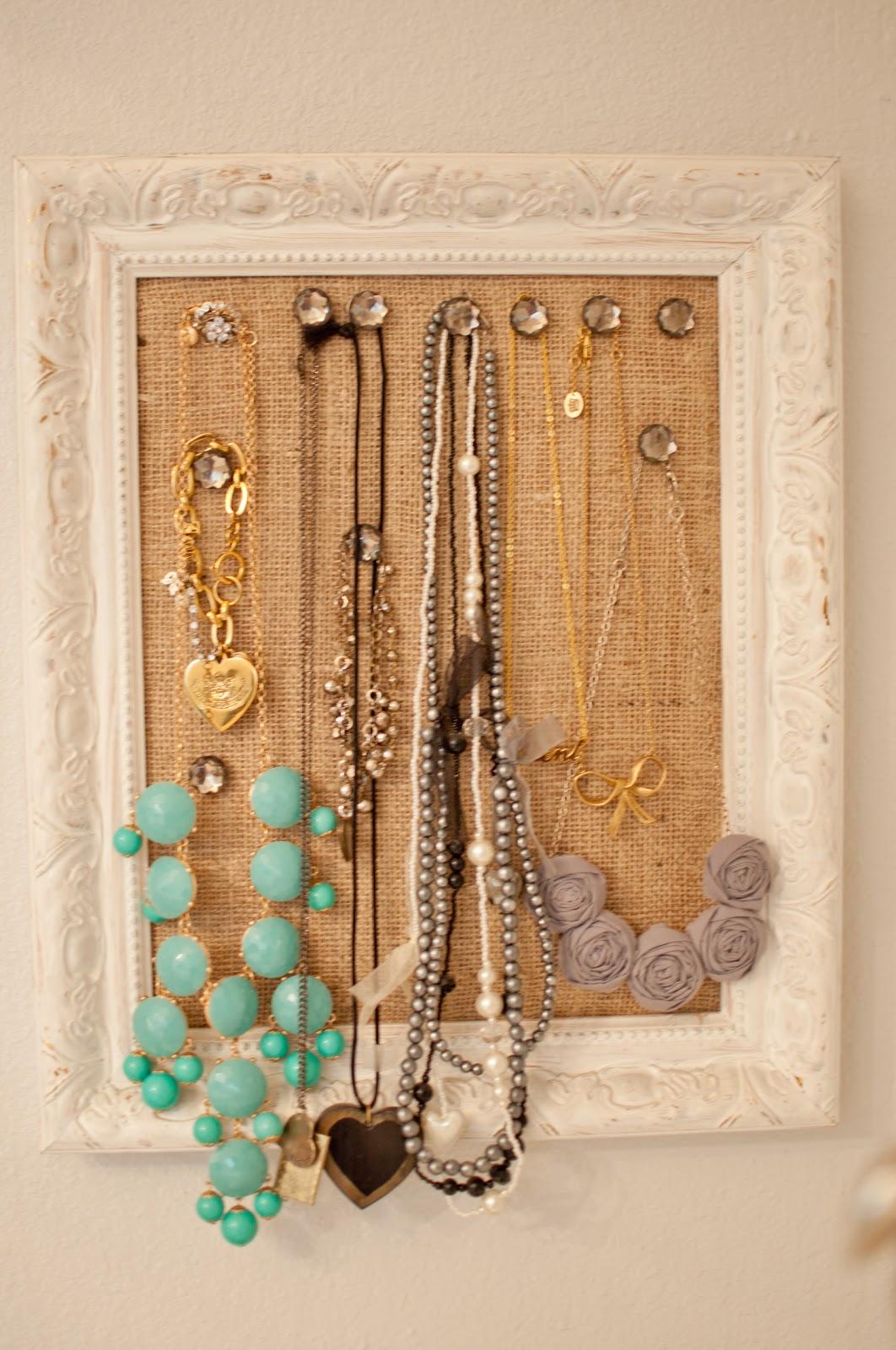 Domestic Fashionista DIY Cork Board Jewelry Frame