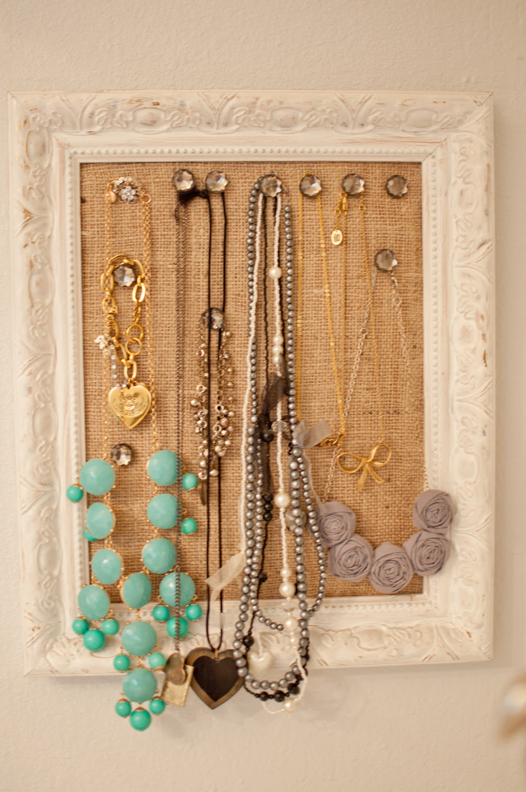Fancy jewelry frame picture collection picture frame ideas domestic fashionista diy cork board jewelry frame solutioingenieria Choice Image