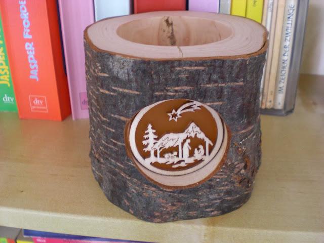 Holz Teelicht Krippe