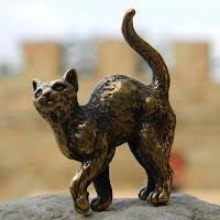 купить бронзовые латунные фигурки кот кошка статуэтка украина металл